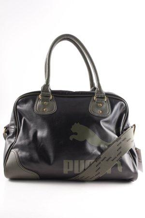 Puma Sporttasche schwarz-grüngrau Motivdruck sportlicher Stil