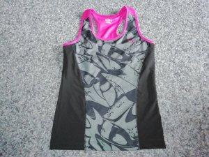 Puma Sporttop schwarz/grau/pink 40
