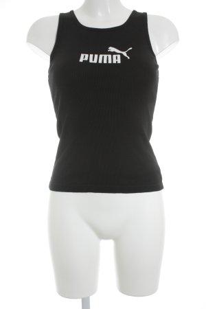 Puma Sporttop schwarz-weiß Schriftzug gedruckt sportlicher Stil
