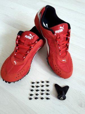 PUMA Sprint Schuhe Leichtathletik Spikes rot