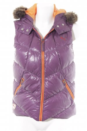 Puma Quilted Gilet lilac-light orange quilting pattern athletic style