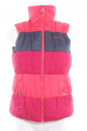 Puma Quilted Gilet magenta-bright red quilting pattern casual look