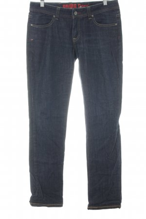 Puma Straight-Leg Jeans dunkelblau Casual-Look