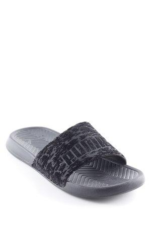 Puma Sandalo da spiaggia nero Motivo mimetico stile classico