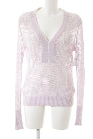 Puma Strickpullover rosa-weiß Casual-Look
