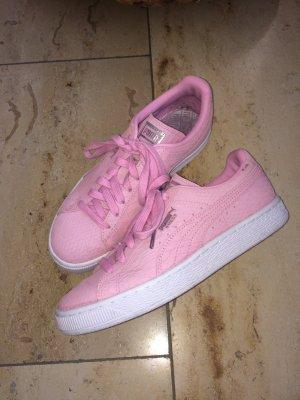 Puma Suede Basket Schlange Pink