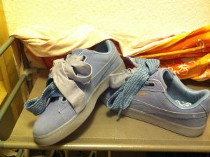 PUMA SUEDE BUSKET HEART LEATHER LAVENDEL PURPLE BLUE (lila)