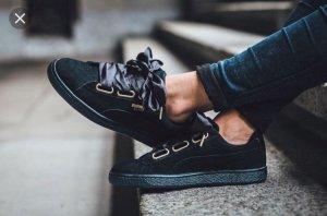 Puma Sneakers met veters zwart