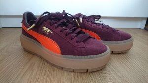 Puma Sneakers met veters neonoranje-paars