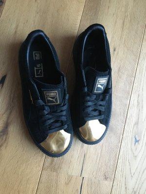 Puma Suede Platform Schwarz Gold