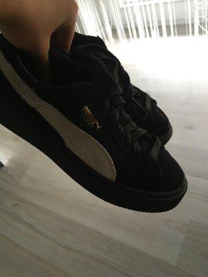 Puma suede platforms