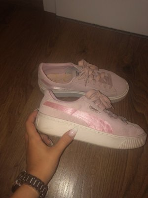 Puma Lace-Up Sneaker pink-gold-colored