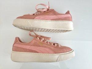 Puma Suede Schuhe in altrosa