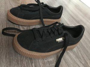 Puma suede schwarz neu sneaker turnschuhe