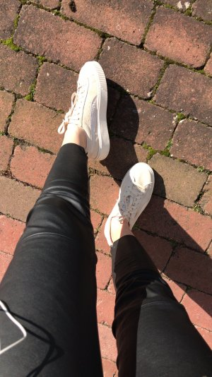Puma suede sneaker beige platform