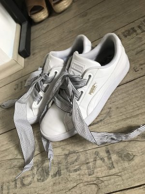 Puma Suede Sneaker Weiß Gold