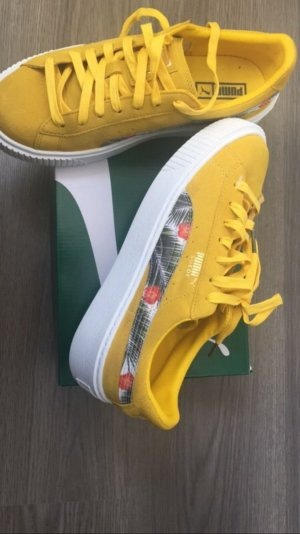 Puma Suede Tropical Wildleder Senf