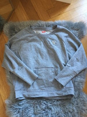 Puma Swatshirt Pulli Pullover grau S 36 38 34 oversized