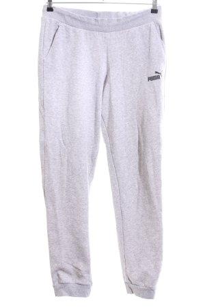 Puma Pantalone fitness grigio chiaro puntinato stile casual