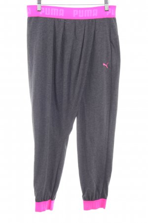 Puma Sweat Pants dark grey-pink athletic style