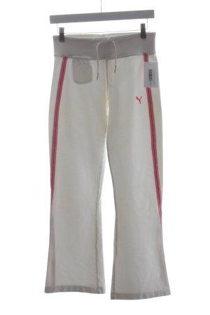Puma Sweathose weiß-rosa Casual-Look