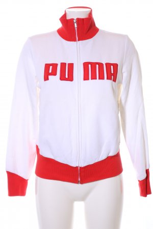 Puma Sweat Jacket white-red printed lettering casual look