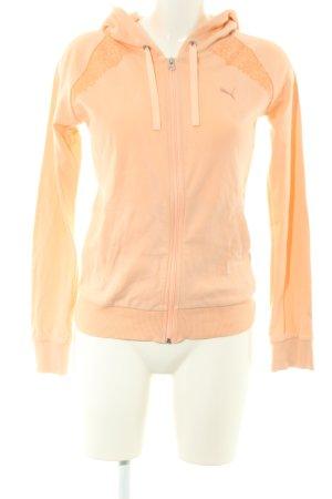 Puma Sweat Jacket light orange casual look