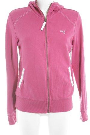 Puma Sweatjacke pink sportlicher Stil