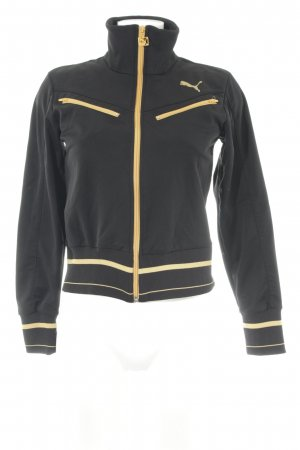 Puma Sweat Jacket black-light orange striped pattern athletic style