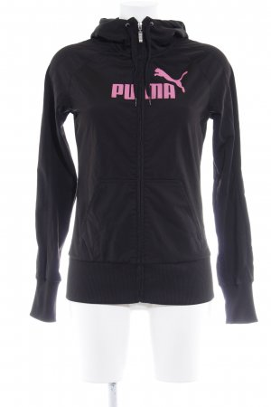 Puma Sweat Jacket black-neon pink printed lettering casual look