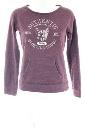 Puma Sweatshirt lila meliert Casual-Look