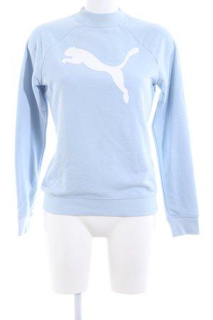 Puma Sweatshirt bleu-blanc imprimé avec thème style décontracté