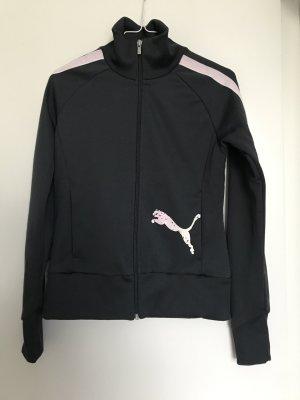 Puma Sweatshirt, dunkelgrau, Gr S, mit rosa Streifen am Ärmel