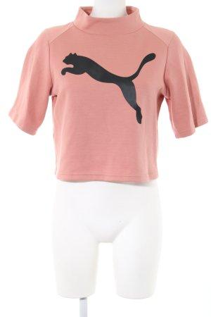 Puma Sweatshirt rose chair imprimé avec thème style décontracté