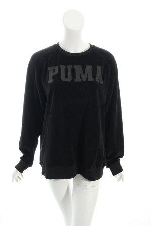 Puma Sweatshirt schwarz Schriftzug gedruckt Urban-Look
