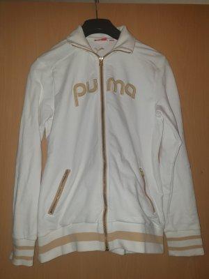 Puma Chaqueta estilo universitario blanco