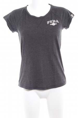 Puma T-Shirt anthrazit Schriftzug gedruckt Casual-Look