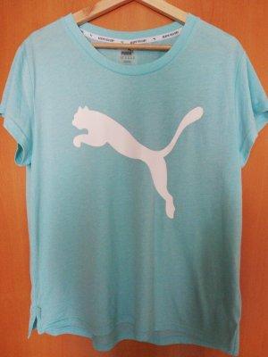 Puma Sportshirt wit-turkoois