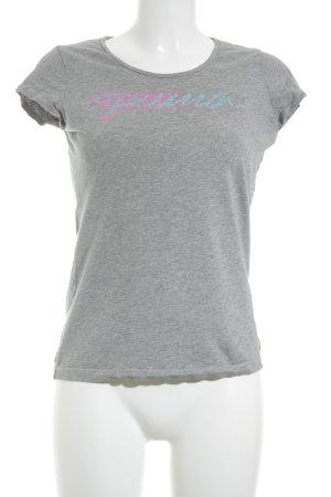 Puma T-Shirt grau Schriftzug gedruckt sportlicher Stil