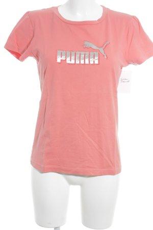 Puma T-Shirt lachs Schriftzug gedruckt sportlicher Stil