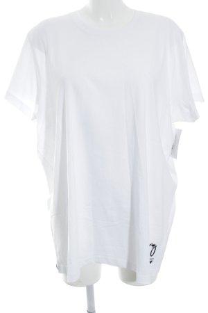 Puma T-shirt bianco-nero Stampa a tema stile casual
