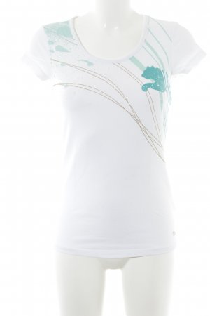 Puma T-Shirt weiß-türkis Motivdruck Casual-Look