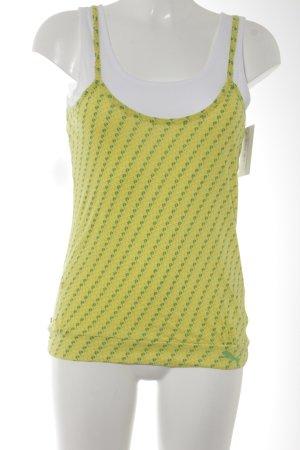 Puma Tanktop gelb-waldgrün abstraktes Muster Casual-Look