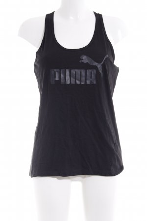 Puma Tank Top black printed lettering casual look