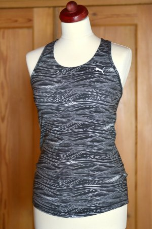 PUMA Tanktop Top Essential Graphic 38/M schwarz-weiß Dry-Cell Sport Fitness
