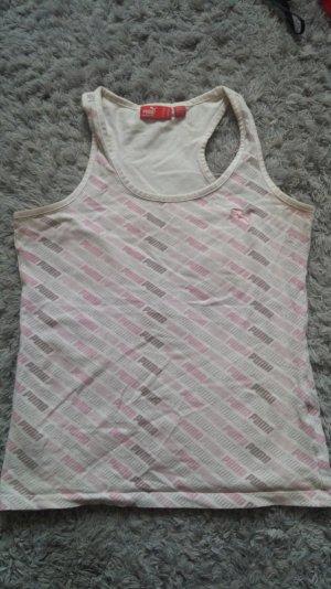 puma top oberteil tanktop weiß rosa