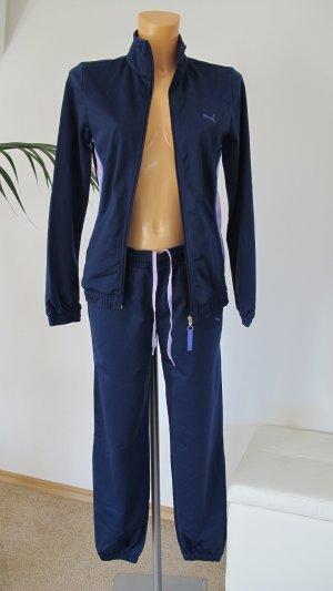 PUMA Trainingsanzug Gr. 34-36 dunkelblau/ flieder Top Zustand !