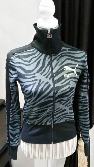 Puma Trainingsjacke Jacke schwarz getigert 34 XS Damen