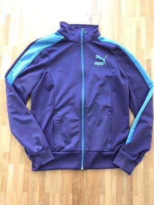 PUMA Trainingsjacke lila/hellblau Größe 40/L