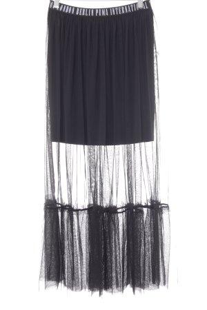 Puma Tüllrock schwarz-weiß Schriftzug gestickt extravaganter Stil